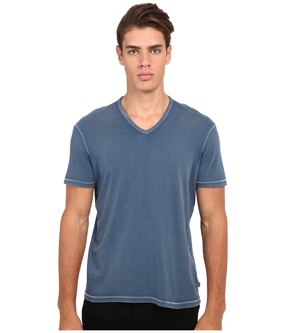 John Varvatos Star U.S.A. - Short Sleeve Knit V-Neck K677R4B (Sapphire) Men's T Shirt