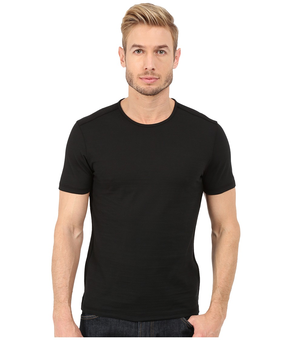 John Varvatos Star U.S.A. - Short Sleeve Knit Crew Neck with Shoulder Seam Details K2429R4B (Black) Men
