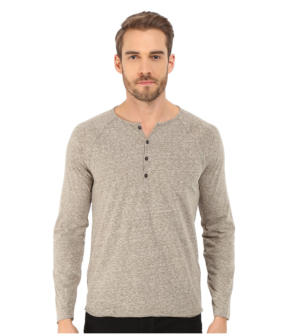 John Varvatos Star U.S.A. - Long Sleeve Raglan Knit Henley K2439R4B (Seaweed) Men's T Shirt