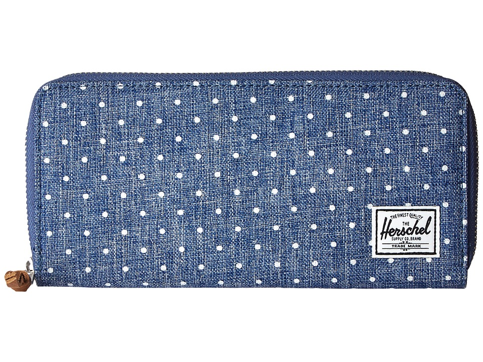 Herschel Supply Co. - Avenue (Limoges Crosshatch/White Polka Dot) Wallet Handbags