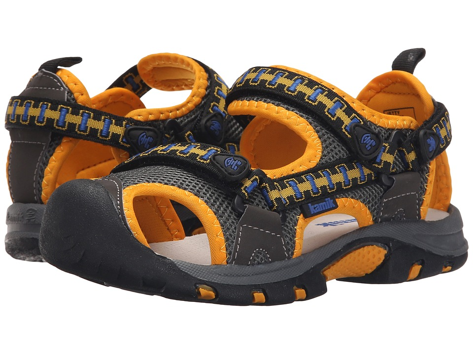 Kamik Kids - Jetty (Little Kid/Big Kid) (Charcoal) Boy's Shoes