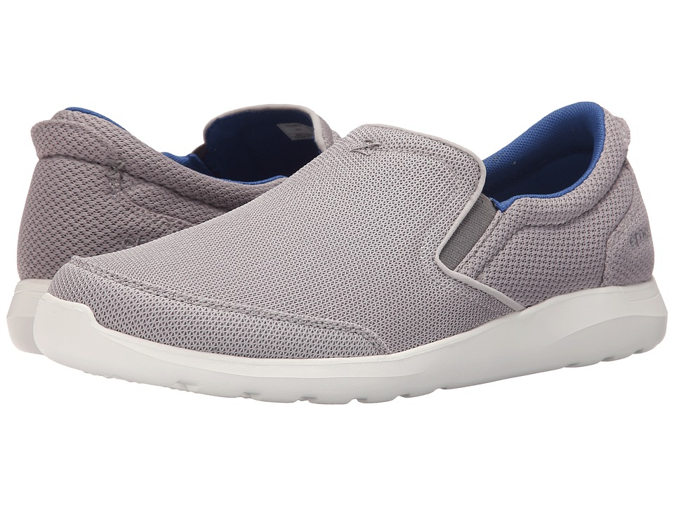 Crocs - Kinsale Mesh Slip-On (Smoke/White) Men's Slip on Shoes