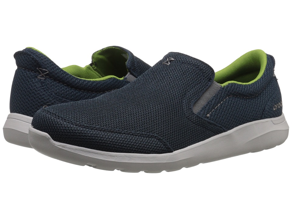 Crocs - Kinsale Mesh Slip-On (Navy/Pearl White) Men's Slip on Shoes