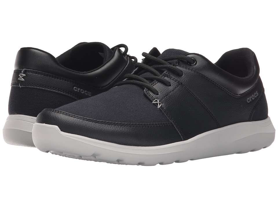Crocs - Kinsale Lace-Up (Black/Pearl White) Men