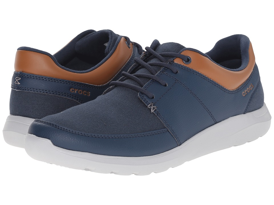 Crocs - Kinsale Lace-Up (Navy/Light Grey) Men's Lace up casual Shoes