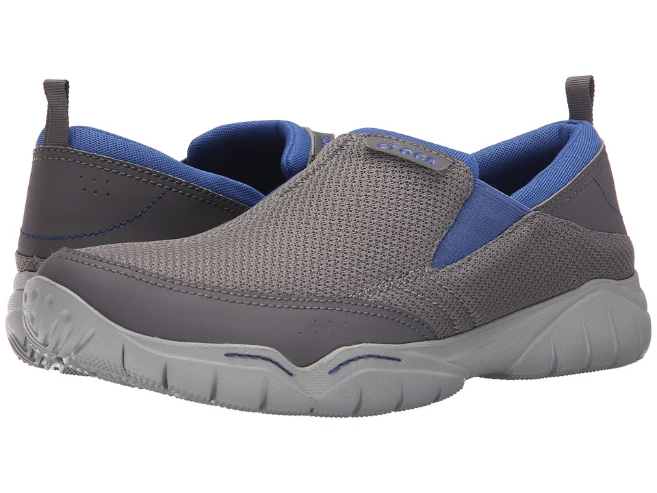 Crocs - Swiftwater Mesh Moc (Smoke/Light Grey) Men's Moccasin Shoes