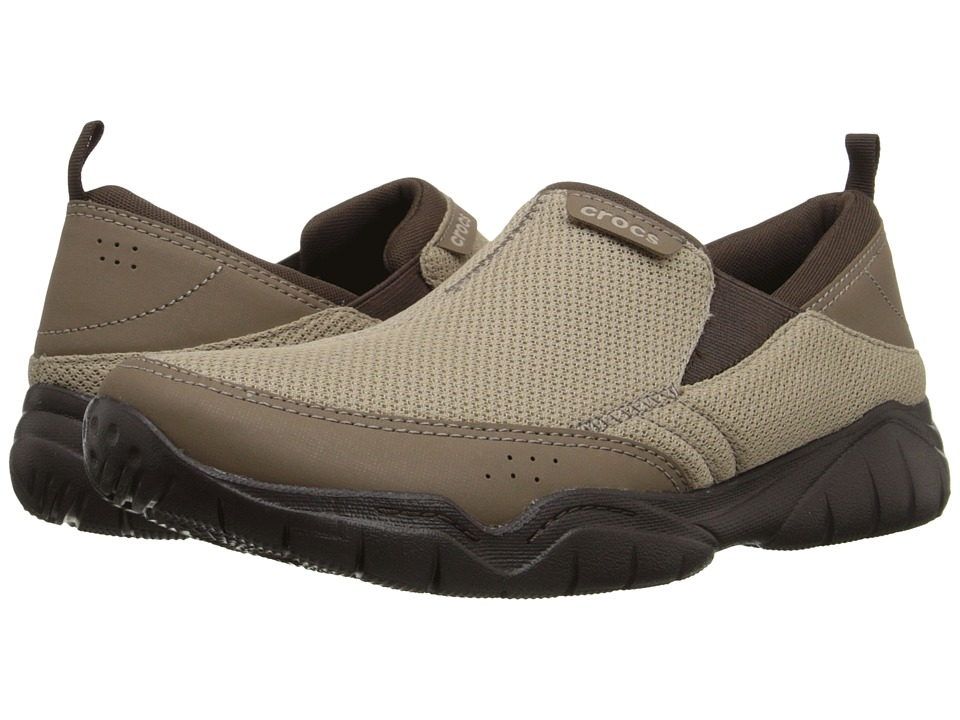 Crocs - Swiftwater Mesh Moc (Khaki/Espresso) Men