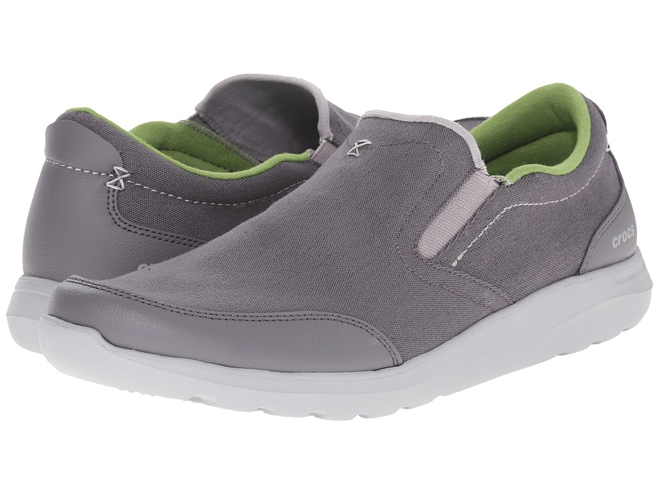 Crocs - Kinsale Slip-On (Charcoal/Light Grey) Men's Slip on Shoes