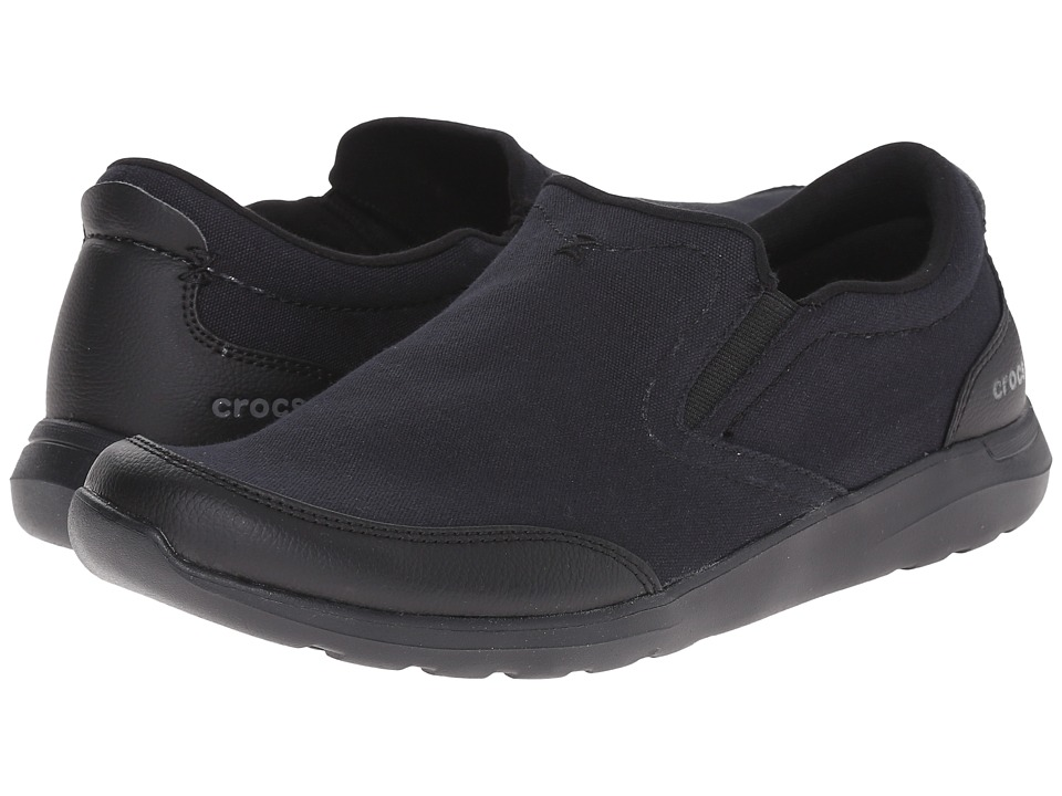 Crocs - Kinsale Slip-On (Black/Black) Men's Slip on Shoes