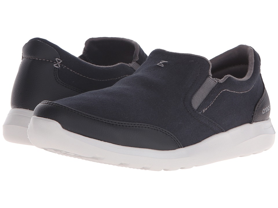 Crocs - Kinsale Slip-On (Black/Pearl White) Men's Slip on Shoes