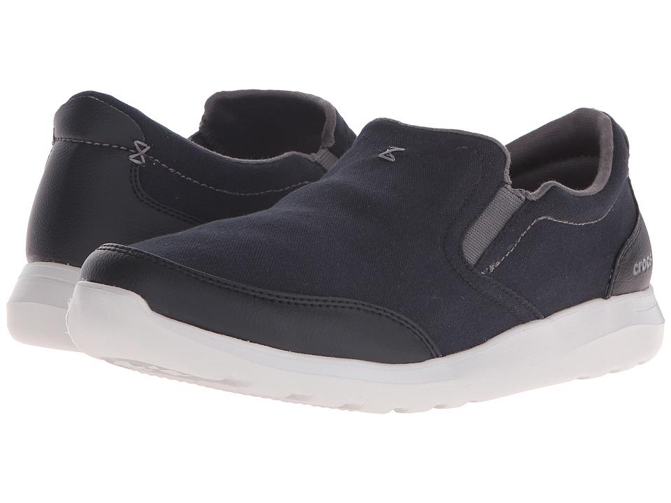 Crocs Kinsale Slip-On (Black/Pearl White) Men