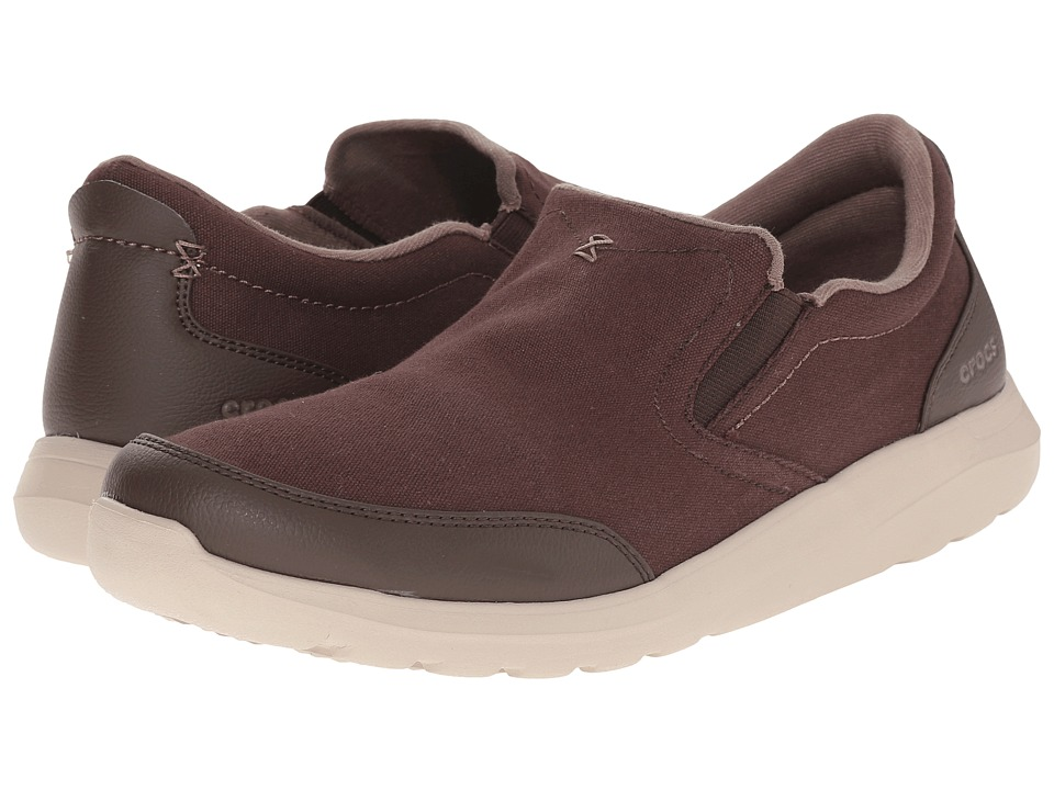 Crocs - Kinsale Slip-On (Espresso/Cobble Stone) Men's Slip on Shoes