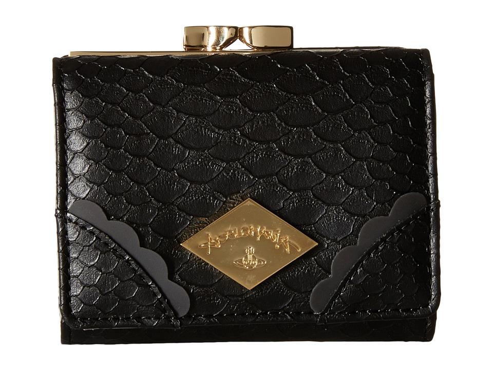 Vivienne Westwood - Braccialini Frilly Snake Wallet (Black) Wallet Handbags