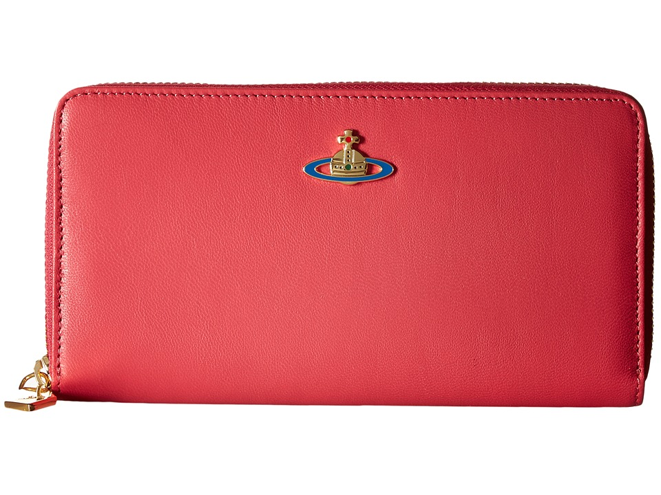 Vivienne Westwood - Braccialini Nappa Zip Around Wallet (Begonia) Wallet Handbags