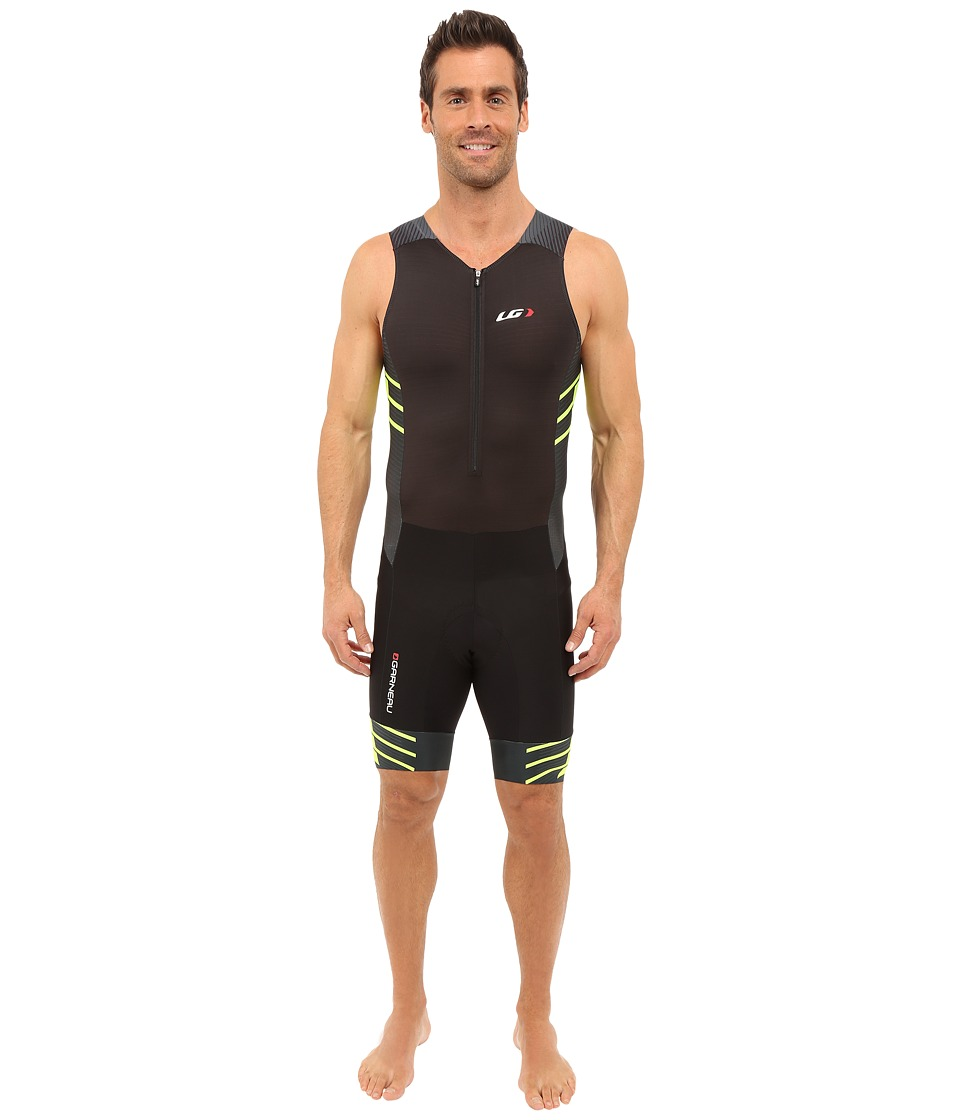 Louis Garneau - Pro Carbon Suit (Black/Bright Yellow) Men's Race Suits One Piece