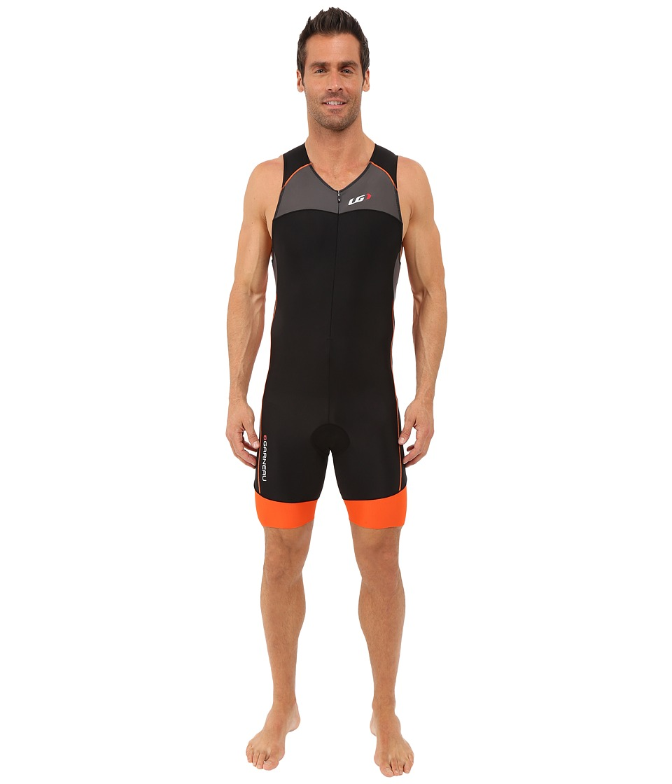 Louis Garneau - Men Comp Suit (Grey/Orange) Men's Race Suits One Piece