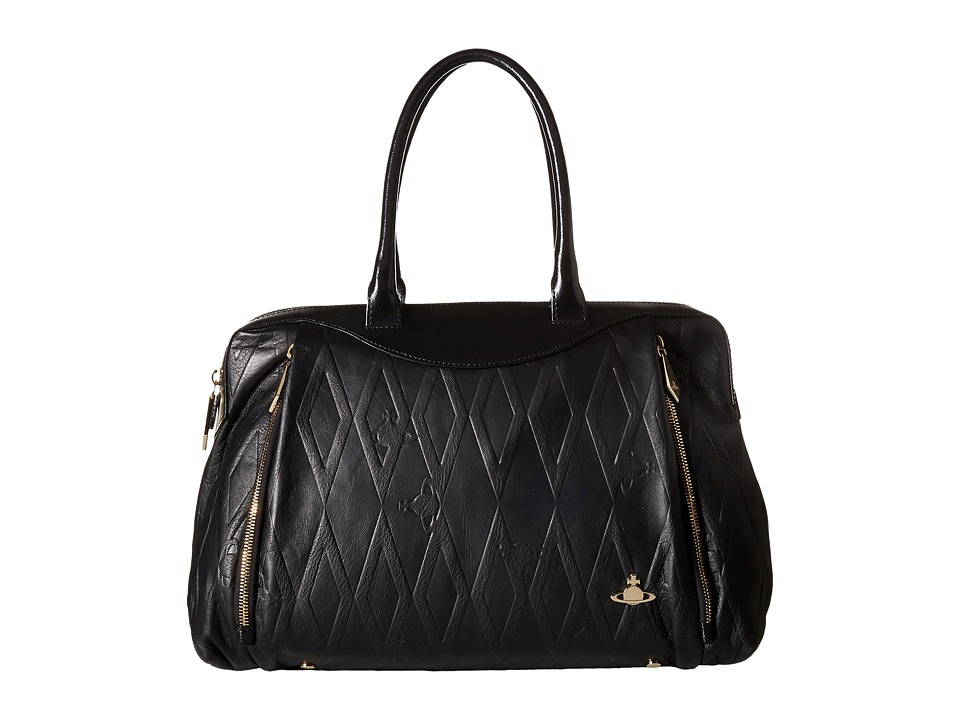 Vivienne Westwood - Braccialini Diamond Orb Bags Shopping (Black) Satchel Handbags