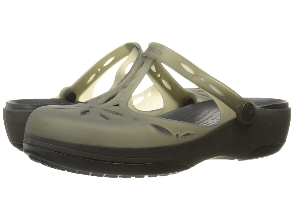Crocs - Carlie Cutout Clog (Black/Black) Women's Clog Shoes