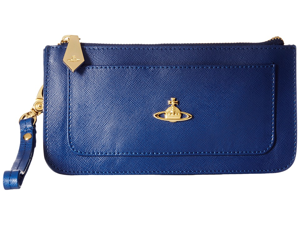 Vivienne Westwood - Braccialini Pouch Card and Coin Holder (Blue) Credit card Wallet