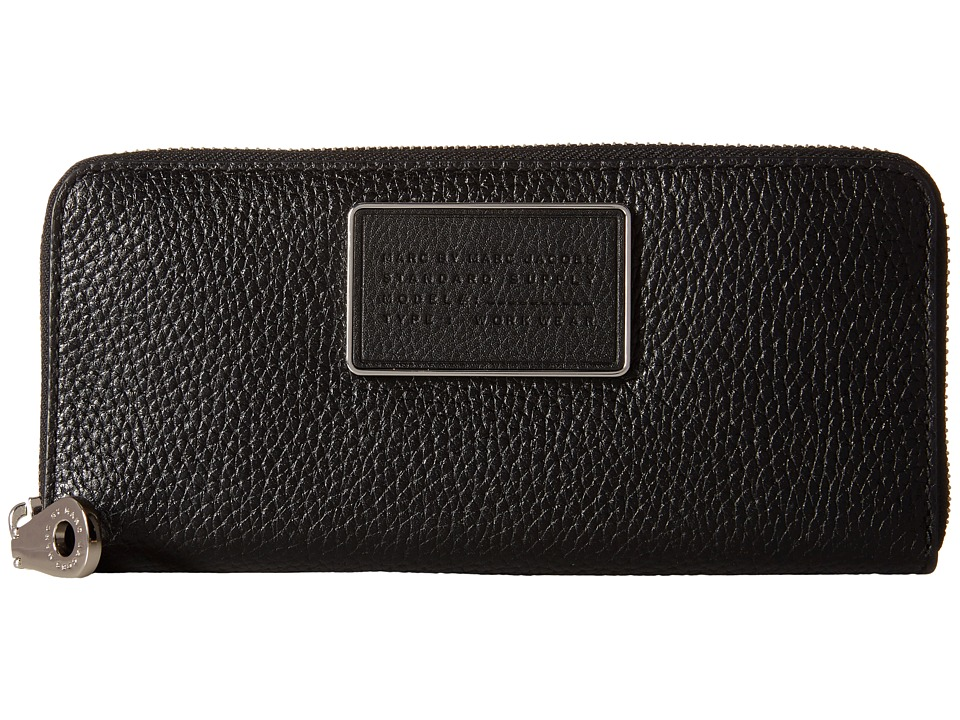 Marc by Marc Jacobs - Ligero Small Leather Goods Slim Zip Around (Black) Wallet