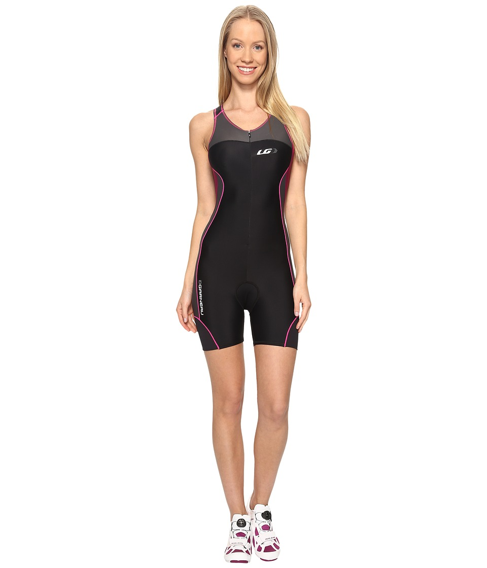 Louis Garneau - Women Comp Suit (Black/Pink/Purple) Women's Race Suits One Piece