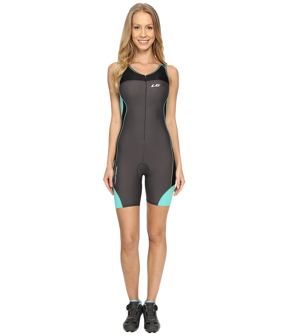 Louis Garneau - Women Comp Suit (Grey/Green) Women's Race Suits One Piece