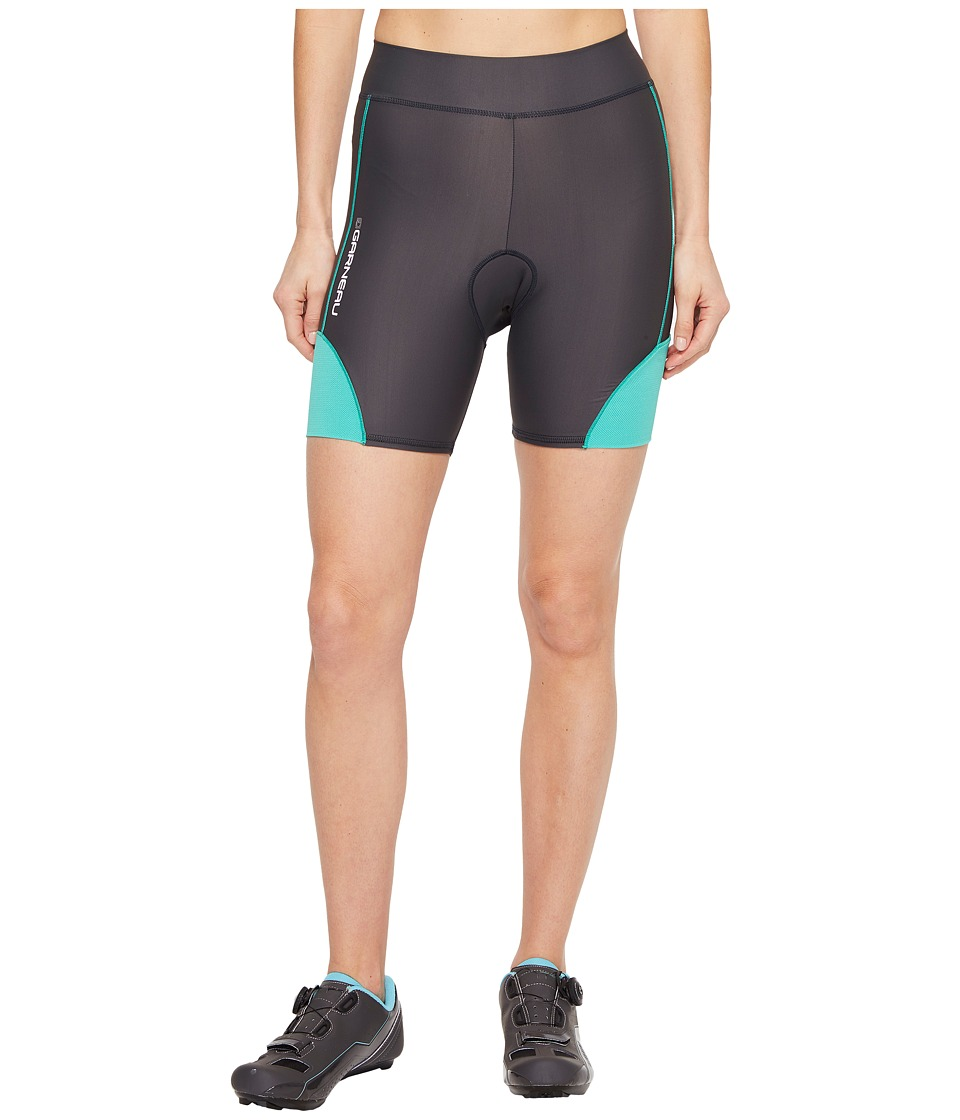 Louis Garneau - Women Comp Shorts (Grey/Green) Women's Shorts