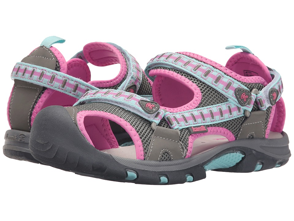 Kamik Kids Jetty 2 (Little Kid/Big Kid) (Light Grey) Girls Shoes