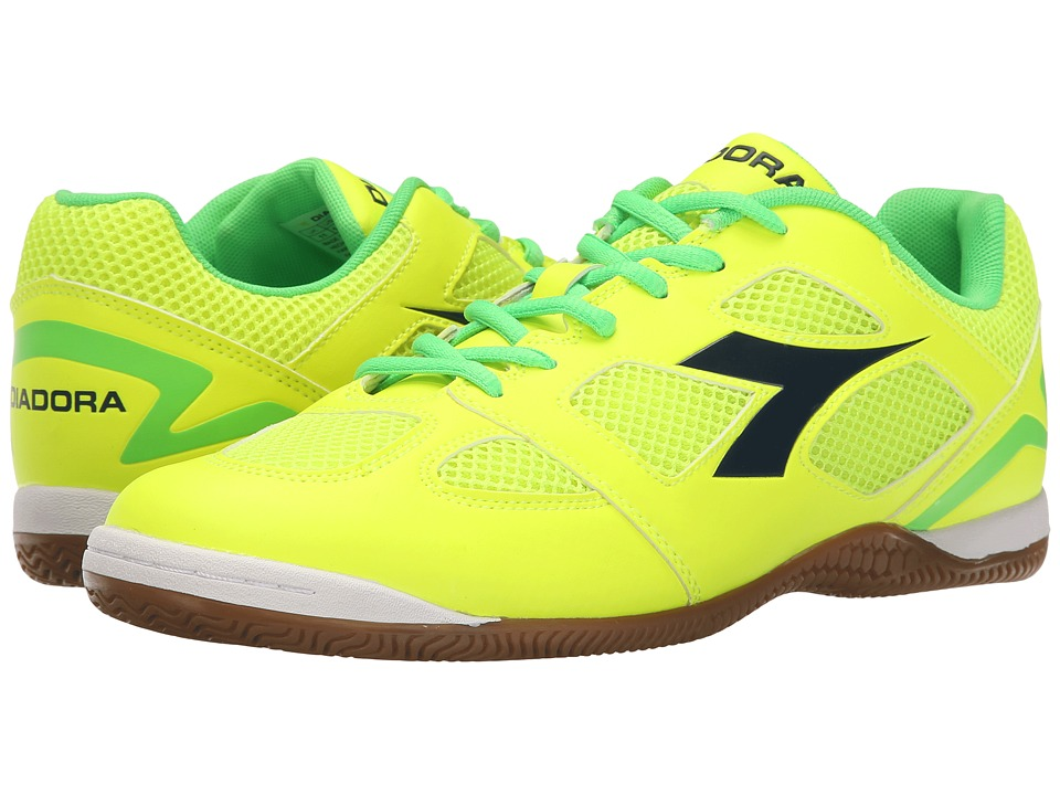 Diadora - Quinto V ID (Yellow Fluo/Green Fluo) Soccer Shoes