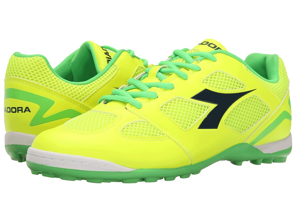 Diadora - Quinto V TF (Yellow Fluo/Green Fluo) Soccer Shoes