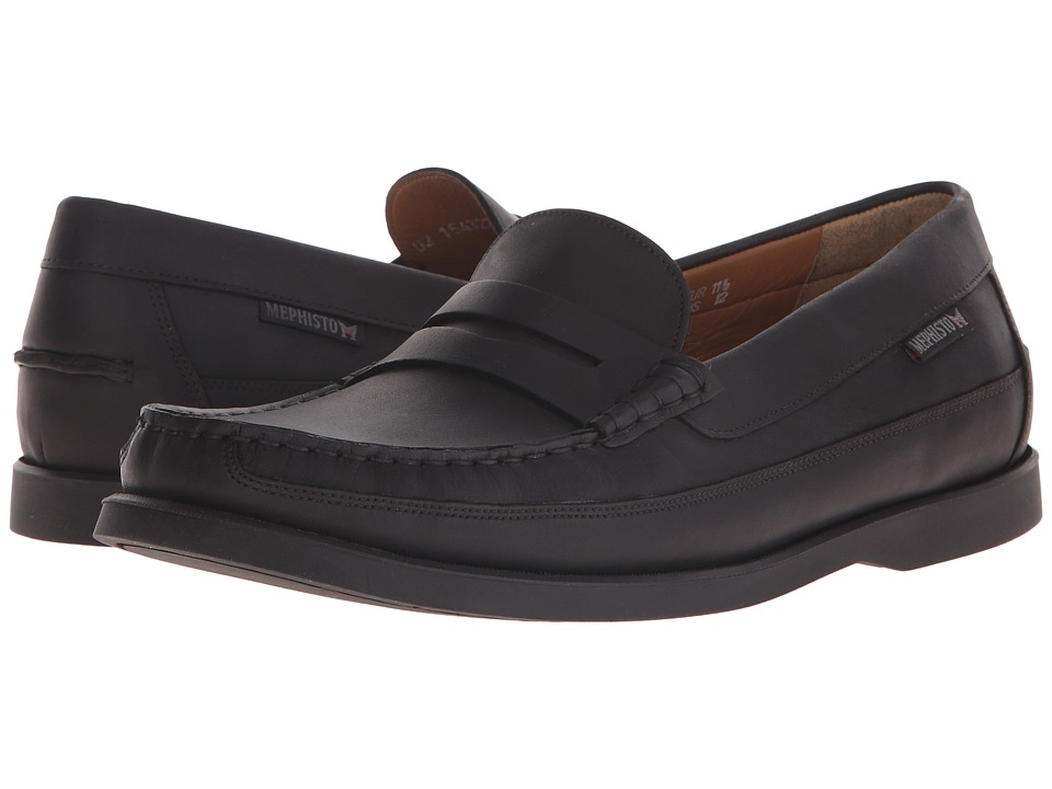 Mephisto - Galion (Black Grizzly) Men's Slip on Shoes