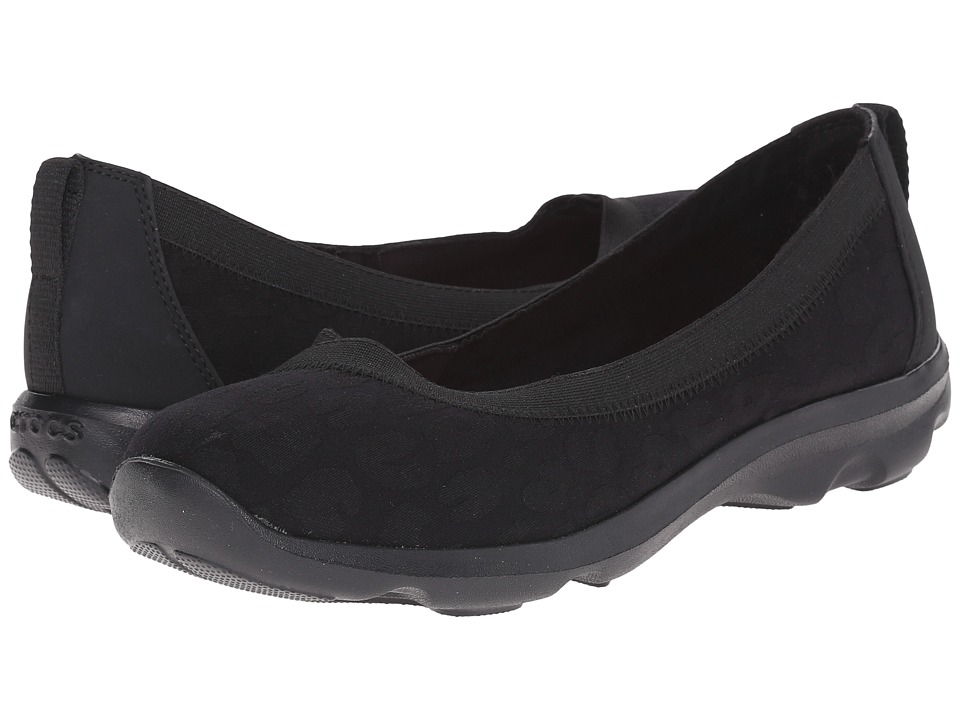 Crocs - Busy Day Leopard Flat (Black) Women