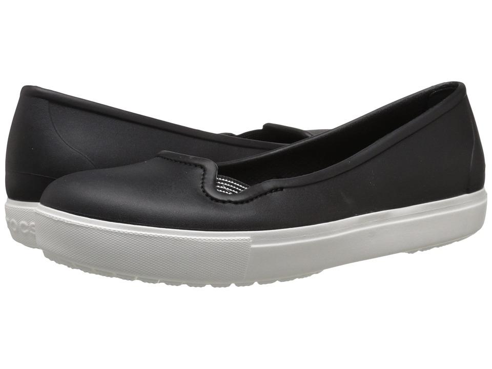 Crocs CitiLane Flat (Black/White) Women