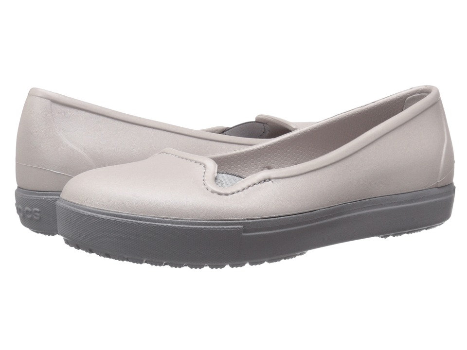 Crocs - CitiLane Flat (Platinum) Women's Flat Shoes