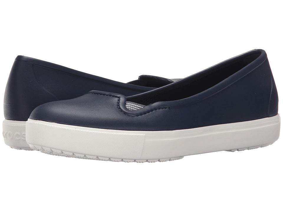 Crocs - CitiLane Flat (Navy/White) Women's Flat Shoes
