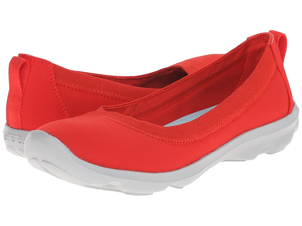 Crocs - Busy Day Stretch Flat (Flame) Women's Flat Shoes