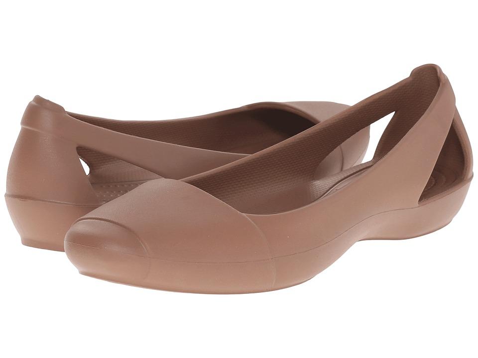 Crocs - Sienna Flat (Bronze) Women's Flat Shoes