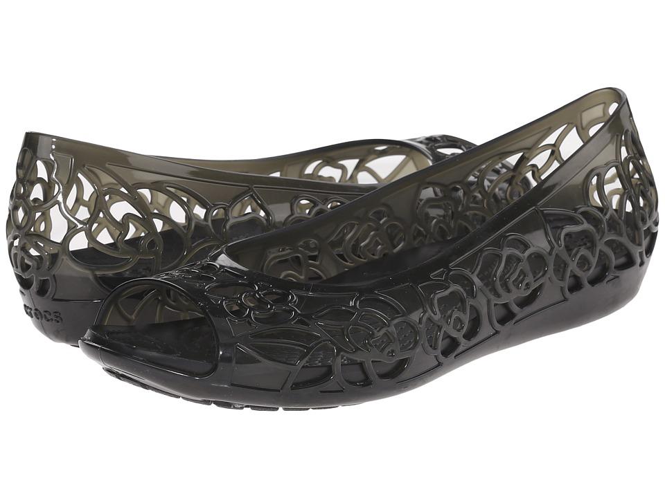 Crocs Isabella Flat (Black) Women