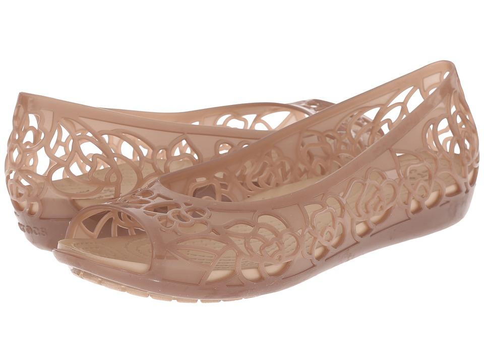 Crocs Isabella Flat (Bronze) Women