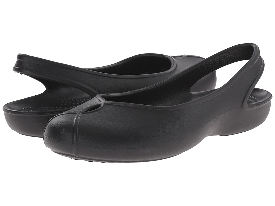 Crocs - Olivia II Flat (Black) Women's Flat Shoes
