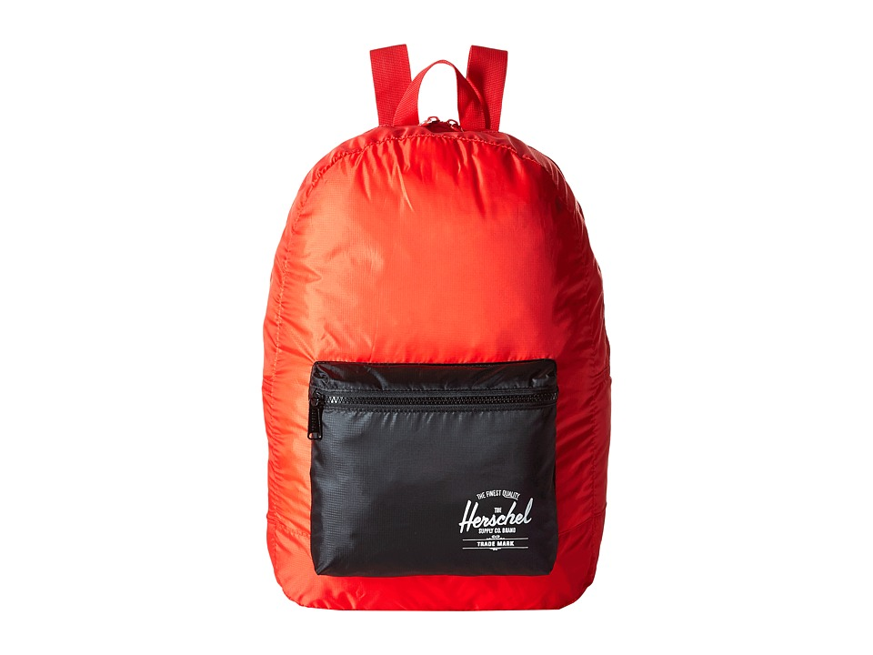 Herschel Supply Co. - Packable Daypack (Red/Black) Backpack Bags