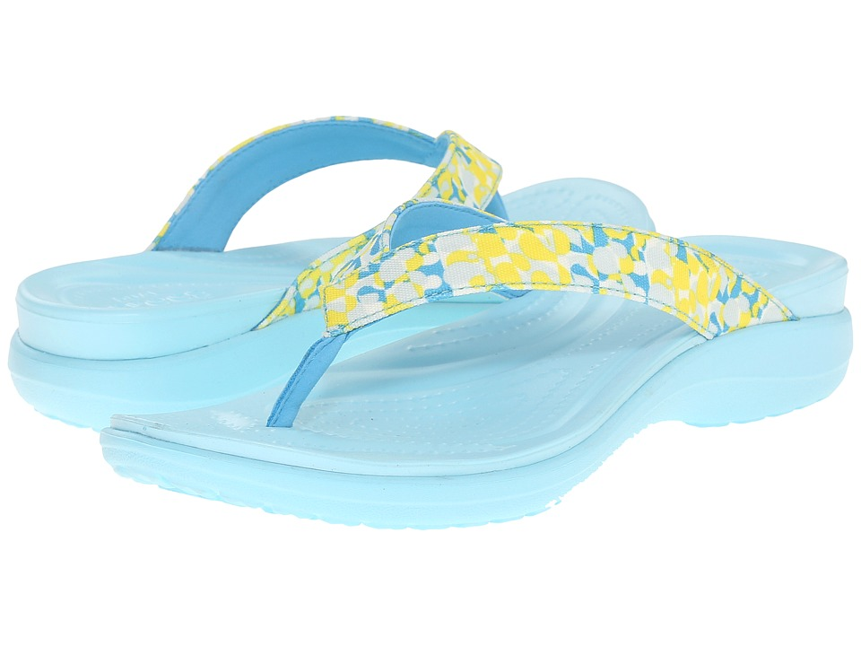 Crocs - Capri V Deco Flip (Ice Blue) Women's Slide Shoes
