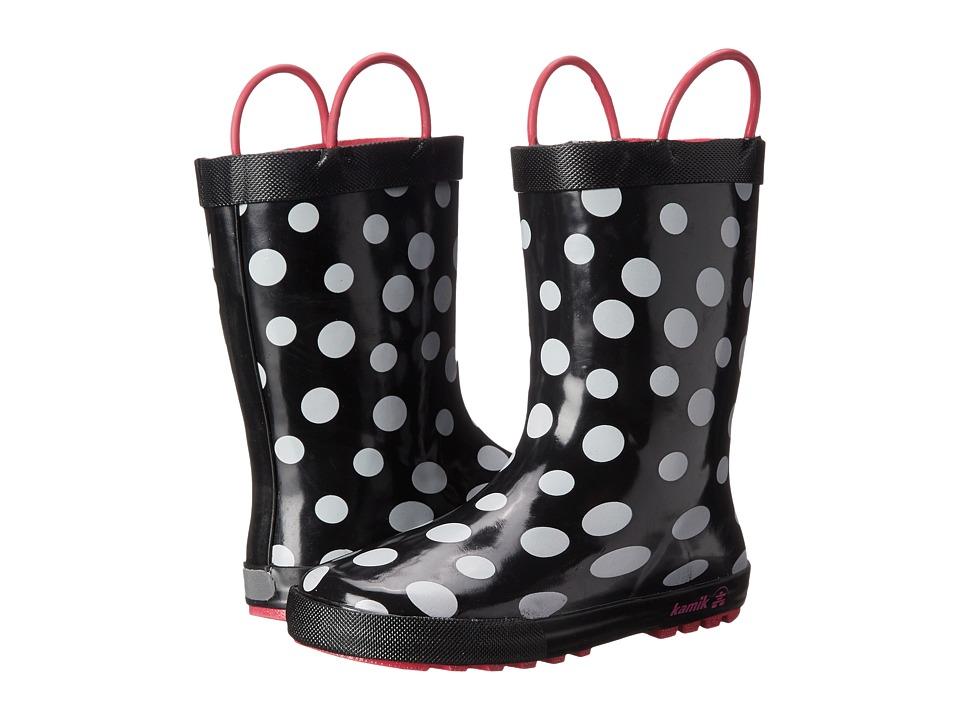 Kamik Kids - Confetti (Toddler/Little Kid) (Black) Girl's Shoes