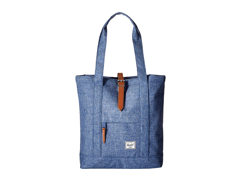 Herschel Supply Co. - Market (Limoges Crosshatch/Tan Leather) Tote Handbags