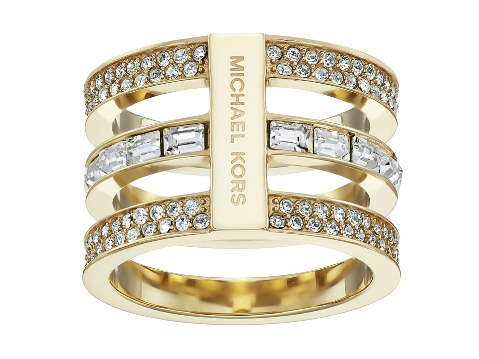 Michael Kors - Park Avenue Tric Stack Pave Ring (Gold) Ring
