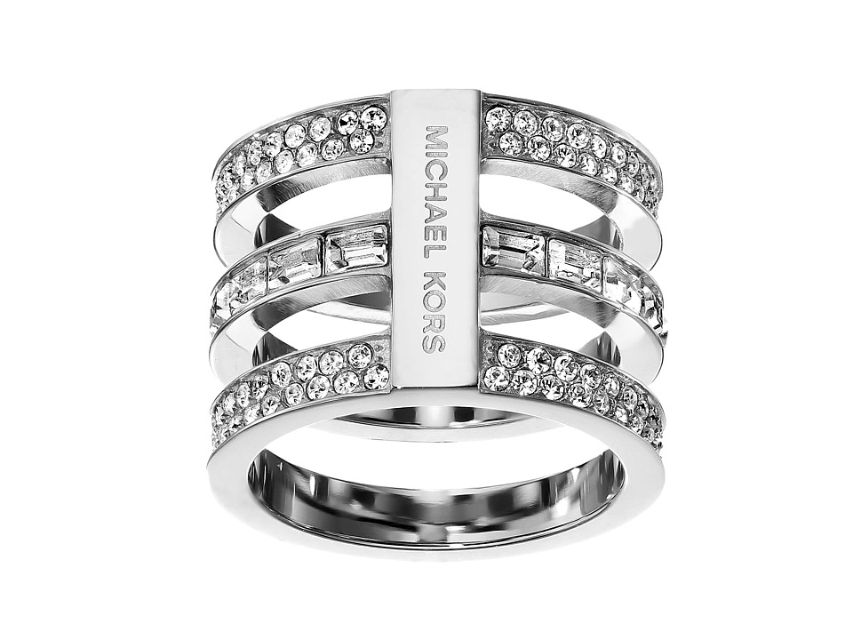 Michael Kors - Park Avenue Tric Stack Pave Ring (Silver) Ring