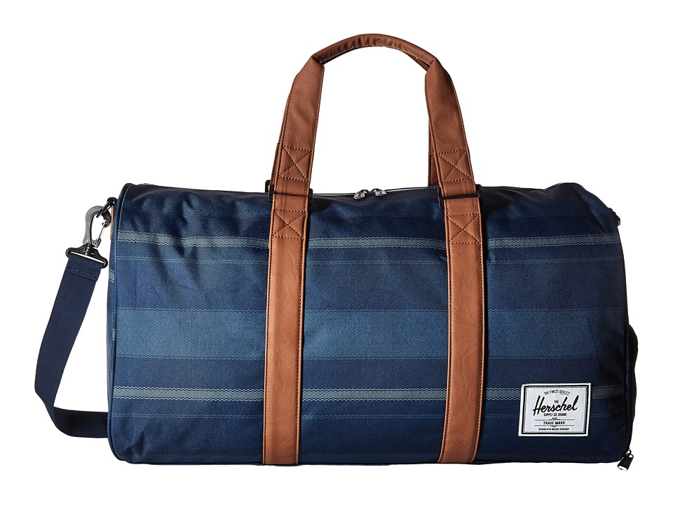 Herschel Supply Co. - Novel (Navy Fouta/Tan Synthetic Leather) Duffel Bags