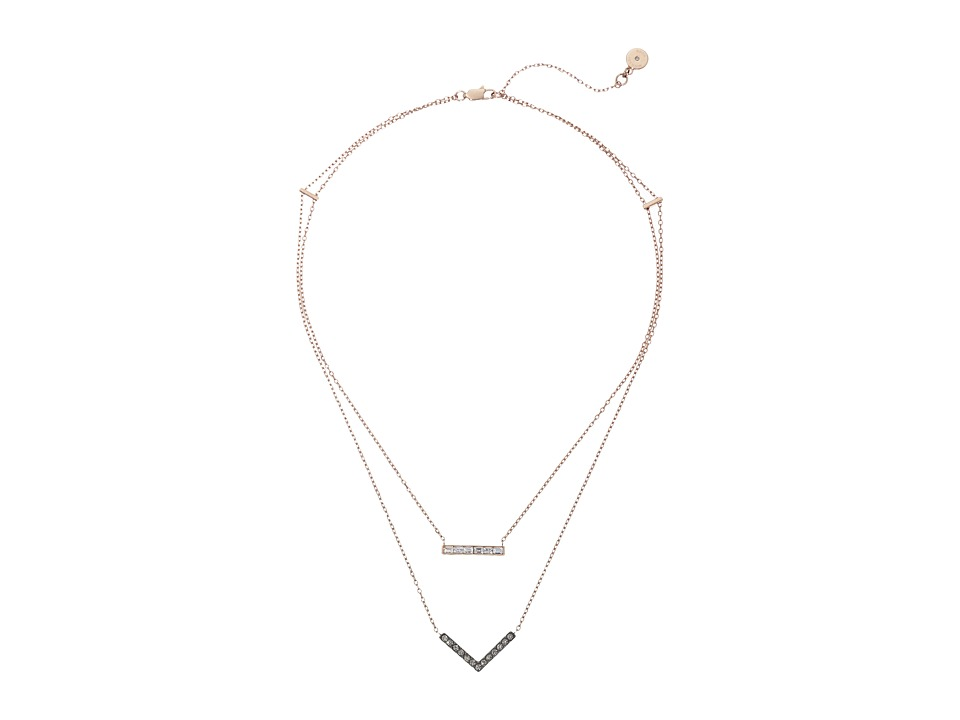 Michael Kors - Short Parisian Jewel Necklace (Rose Gold) Necklace