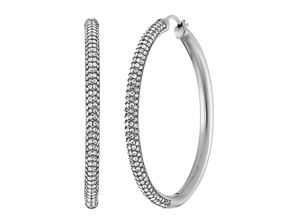 Michael Kors - Park Avenue Hoop Earrings (Silver 1) Earring