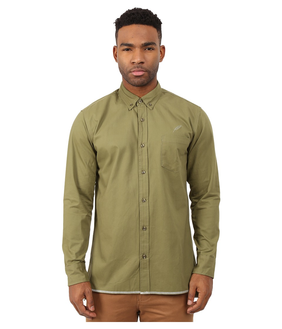 Publish - Cedar Button Up (Olive) Men's Clothing